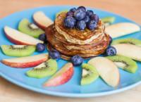 {rezept} Pancakes mit Chia Samen und Bananen