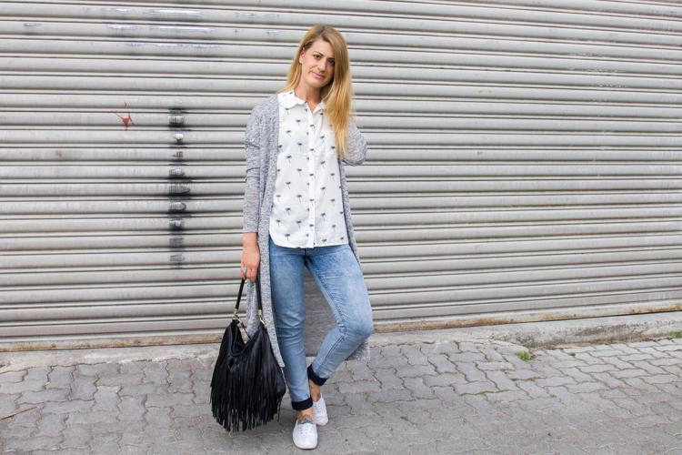 Palmen Bluse und Long Cardigan H&M 1