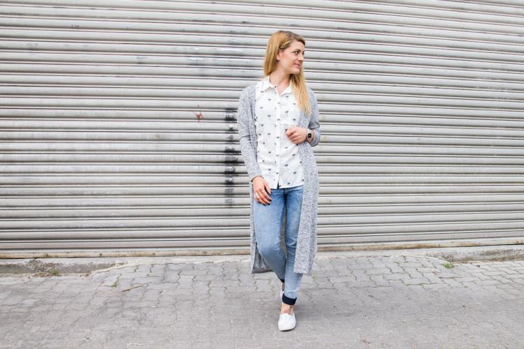 Palmen Bluse und Long Cardigan H&M 10
