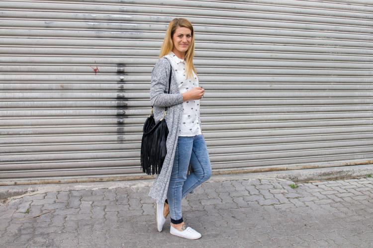 Palmen Bluse und Long Cardigan H&M 12