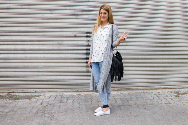 Palmen Bluse und Long Cardigan H&M 2