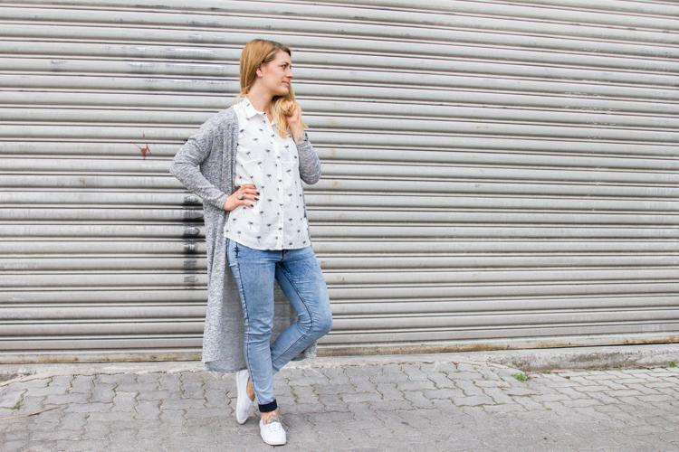 Palmen Bluse und Long Cardigan H&M 3