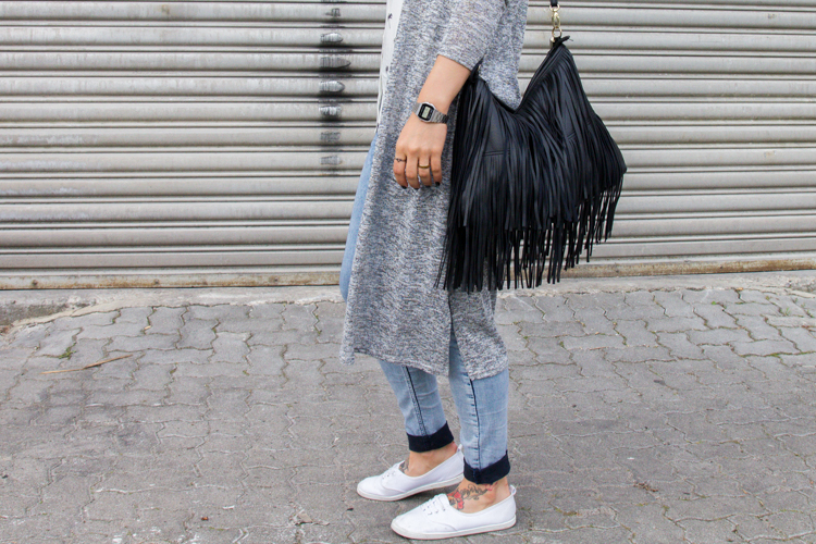 Palmen Bluse und Long Cardigan H&M 4
