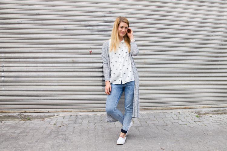 Palmen Bluse und Long Cardigan H&M 5
