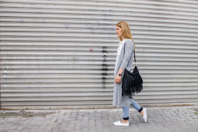 Palmen Bluse und Long Cardigan H&M 6