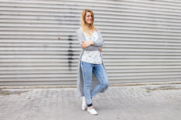 Palmen Bluse und Long Cardigan H&M 7