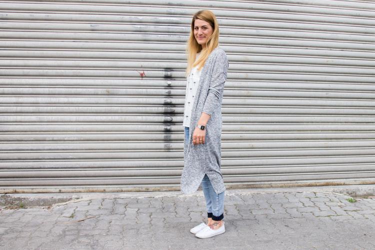 Palmen Bluse und Long Cardigan H&M 8