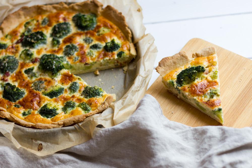 brokkoli quiche mit schinken und parmesan gooseberry